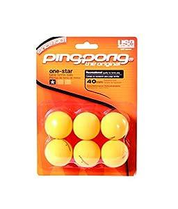Ping Pong 1 Star Tischtennisbälle, 6 Stück-Orange