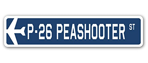 Used, P-26 Peashooter Street Sign Air Force Aircraft Military for sale  Delivered anywhere in USA
