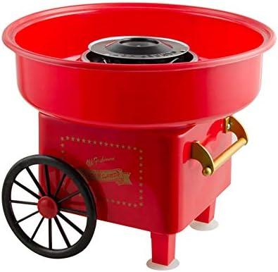 Retro Eléctrico máquina de algodón de azúcar, Mini fabricante de hilo de caramelo 450W para niño juguetes,Red: Amazon.es: Hogar