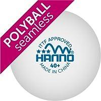 HANNO ITTF Wettkampfball 40+ Polyball / Plastikball (weis)