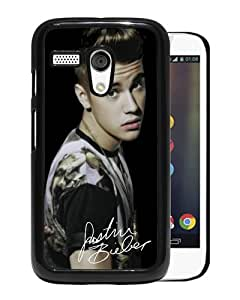 Unique And Popular Motorola Moto G Case ,Justin Bieber Black Motorola Moto G Screen Cover Beautiful Designed