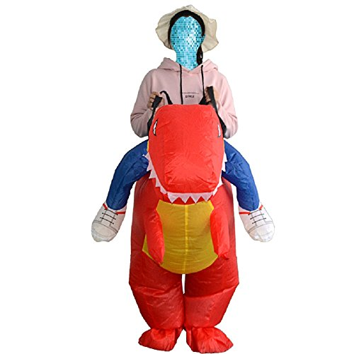 Red Inflatable Trex Costume Animal Dinosaur yunzhenbusiness Dress on Halloween Adult Ride Fancy R6wUOa