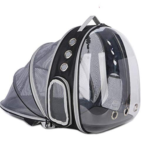 Expandable Cat Carrier Backpack, Space Capsule Transparent Bubble Pet Carrier for Small Dog, Pet Hiking Traveling Backpack