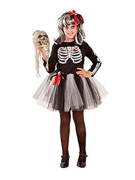 DISBACANAL Disfraz de Esqueleto tutú niña - Único, 12 años ...