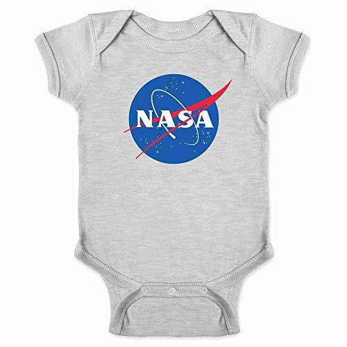 NASA Approved Classic Meatball Logo Gray 12M Infant Bodysuit -