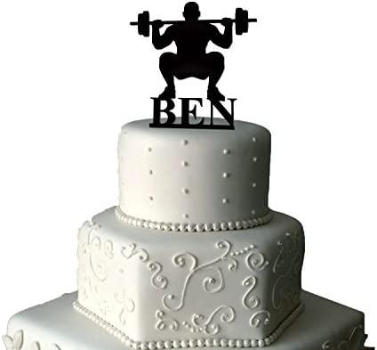 Levantamiento de pesas Birthday Cake Topper decoración para ...
