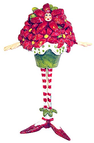 Krinkles Poinsettia - Department 56 Krinkles Potter Poinsettia Man Mini Christmas Ornament #37878