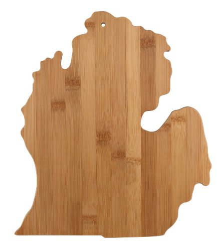 Totally Bamboo State Cutting & Serving Board, Michigan, 100% Bamboo Board for Cooking and Entertaining