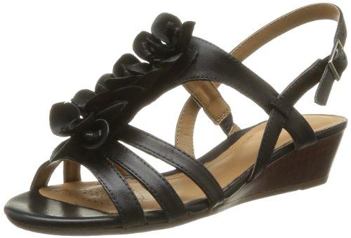 Clarks Violett alla Gift caviglia Playful cinturino donna Scarpe Black con Morado Leather rp4rXqz