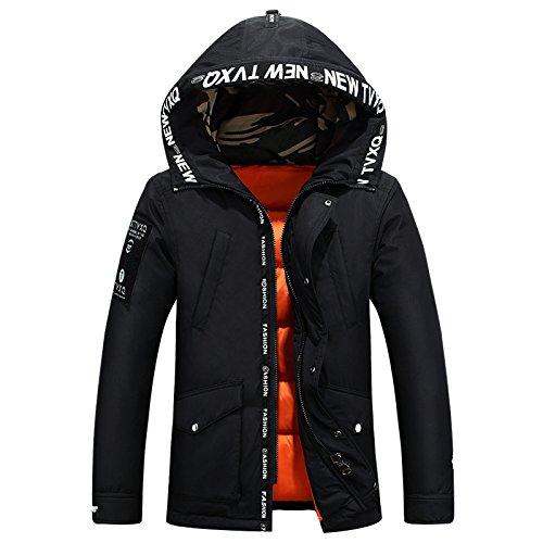 Outwear Casuale cappotto Di Caldo Incappucciato Spessore Imbottita Inverno Nero Lsm Degli Giacca Uomini C6RCqpO