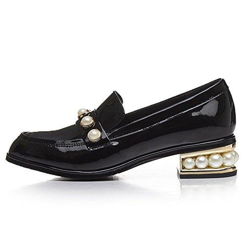 mujer negro Nine Sandalias SevenCourt cuña con Shoes wBnxzT1qX