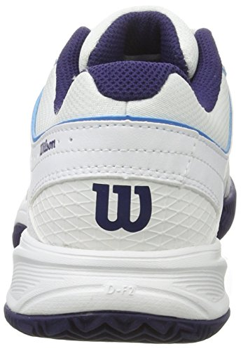 Wilson 97512295, Scarpe da Tennis Donna, Multicolore (White / Pearl Blue / Astral Aura), 39 EU