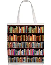 Cotton Canvas Tote Bag Jane Austen Antique Books & Other British Antique Books Shoulder Grocery Shipping Bags Cloth Shopping Bag