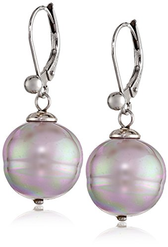 Majorica 12mm Baroque Pearl Euro wire Drop Earrings - Pearl Euro Wire Earrings