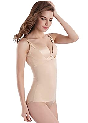 Everbellus Cool Comfort Shapewear Top Seamless Firm Control Tank for Women
