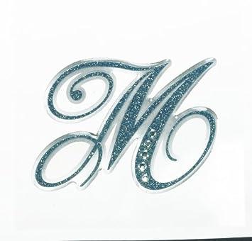Amazon Com Letter M Sticker Tattoo It Laptop Stickers Toy