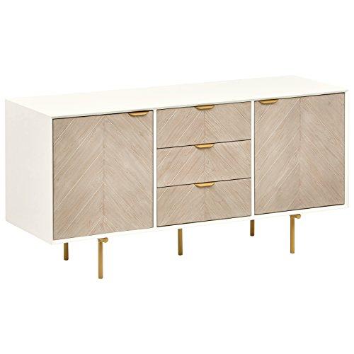 (Rivet Mid-Century Modern Wood Media Table, 59