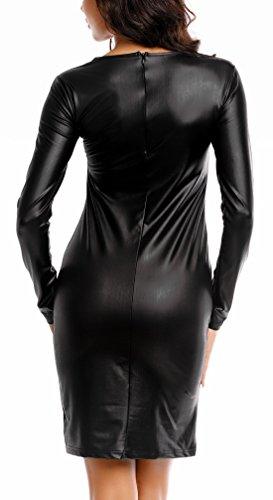para Vestido xxxquisite Larga Manga Mujer Ajustado vTHHqwF