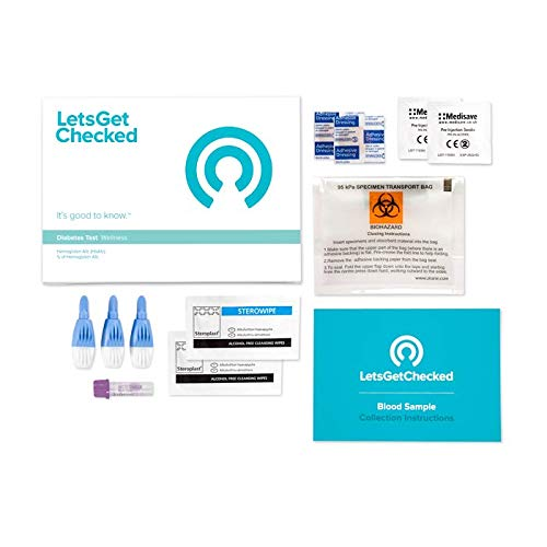 Amazon.com: LetsGetChecked-at Home Diabetes HbA1c Test for Diabetics Or to Identify Pre-Diabetes: Health & Personal Care