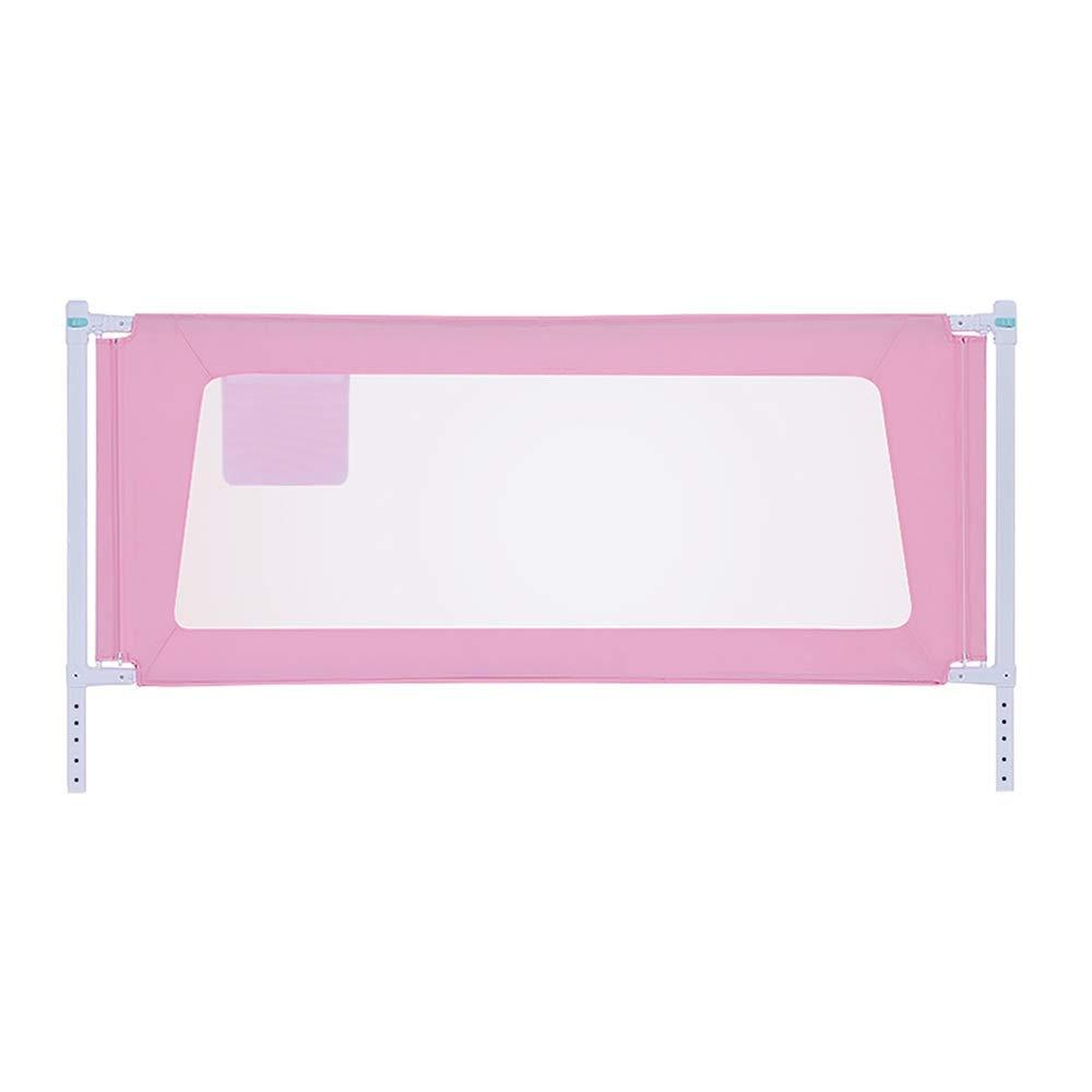 GXYAWPJ ベッドの柵、ベッドの塀の赤ん坊の粉砕抵抗力がある塀の子供の赤ん坊の縦の上昇のベッドバッフル、ピンク (色 : ピンク, サイズ さいず : 2.2m) 2.2m ピンク B07S49MSQB