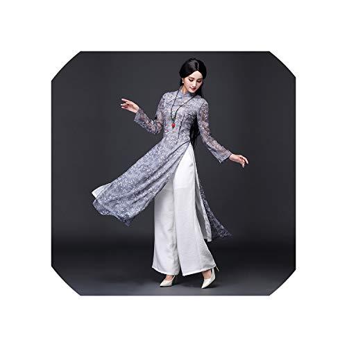 Costume Rentals Long Island (2019 Summer red Style Vintage Ethnic Long Sleeve Qipao Women Silk Long cheongsams)