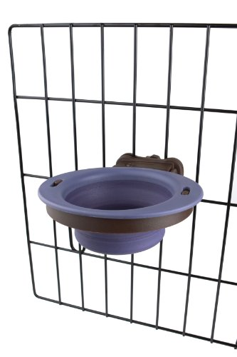 Dexas Popware for Pets Pivot Collapsible Kennel Cup, Small, Purple