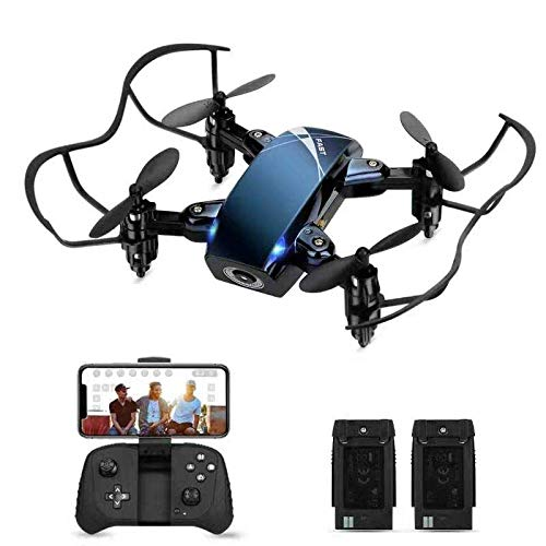 Foldable RC Mini Dronewith Camera for Kids, HALOFUNO WiFi FPV Quadcopter with HD Camera for Beginner Indoor, 3D Flip, Altitude Hold Mode, One Key Take Off/Landing, APP Control