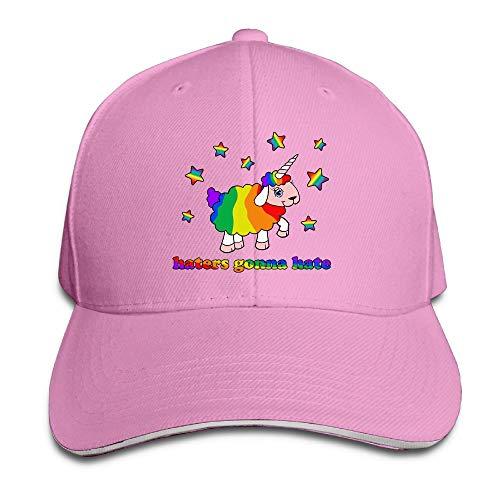 VHGJKGIN Rainbow Unicorn Sheep Sandwich Cap Baseball Hat Cap