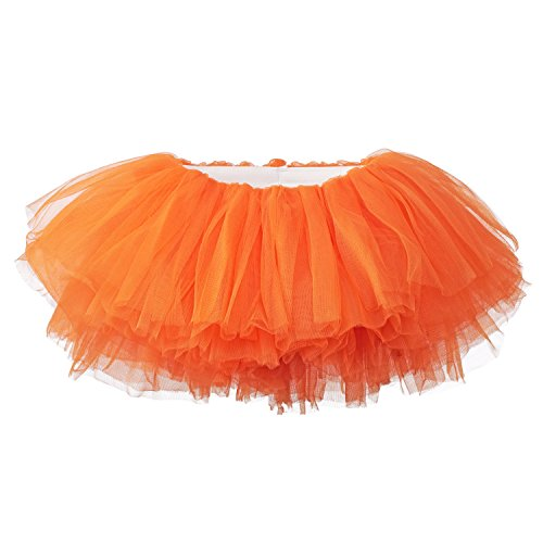 My Lello Little Girls 10-Layer Short Ballet Tulle Tutu Skirt (4 mo. - 3T) -Orange for $<!--$10.49-->