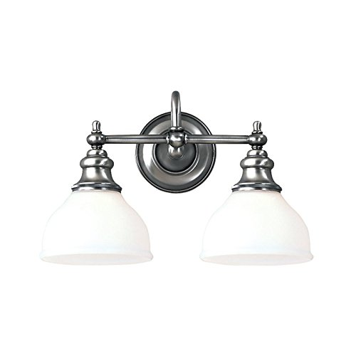 Hudson Valley 5902-PN Sutton Vanity, 2-Light 200 Total Watts, Polished Nickel ()