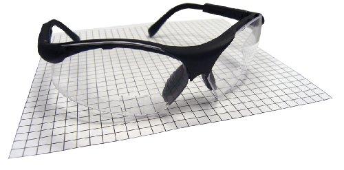 SAS Safety 541-2500 Sidewinder Readers Eyewear, Black Frame, 2.5 X Reader - 2015 1 Ansi Z87