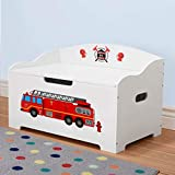 Dibsies Modern Expressions Toy Box - White (Firetruck)