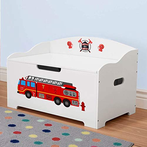 Dibsies Modern Expressions Toy Box – White (Firetruck)
