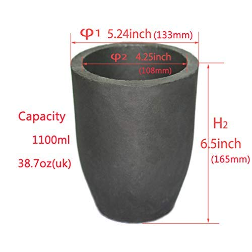 #10 Clay Graphite Crucible Foundry Cup Furnace Torch Melting Casting Refining Gold Silver Copper Brass Aluminum Lead Zinc and Alloys