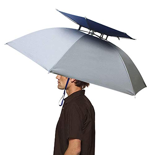 Hunter's Tail UV Umbrella Hat with Double Canopy ()