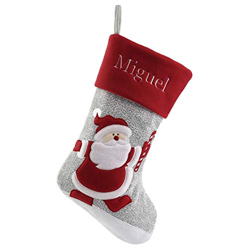 WEWILL Personalized Christmas Stockings Home Decorations Gifts for Family 1 Piece(Color -