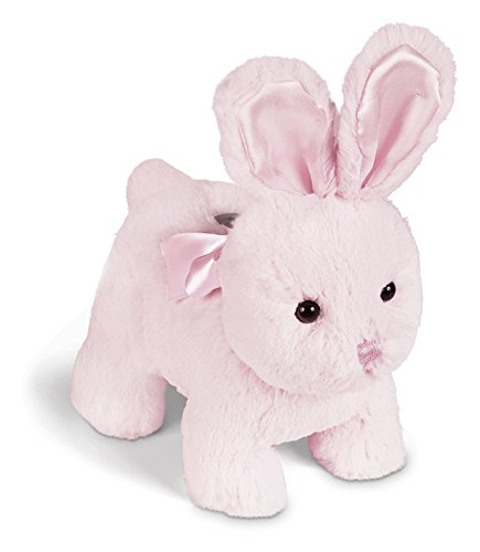 Bearington Cottontail Pink Bunny Rabbit Piggy Bank with Noise (10 Inch Bank)