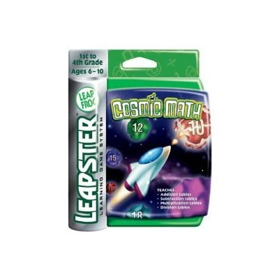 Leapfrog Leapster Cosmic Math Arcade Style Game 1st - 4th Grade For Original Leapster Systems: Toys & Games