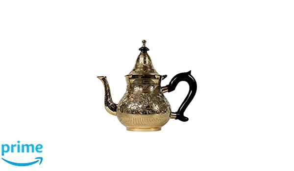 Tetera de Oro marroquí Hecha de latón Abidin 1000 ml ...