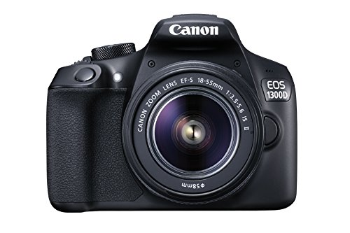 Canon EOS 1300D EF-S 18-55mm 18.7MP CMOS 5184 x 3456 Pixels (Black) – International Version (No Warranty)