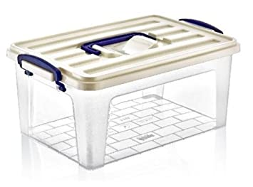 Large Tall Clear Plastic Storage Box Ideal for Caddy Container