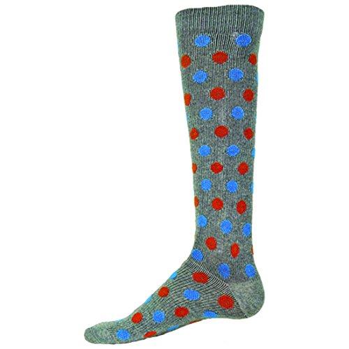 Posh Socks Brooklyn Mens Dress Compression Socks ( Gray - Large )