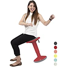 Stand Steady Active Motion Stool for Seating Performance with Active Sitting - Premium Ergonomic Stool / Ergonomic Office Chair for Comfort & Back Pain Relief - Made in Germany (Red)