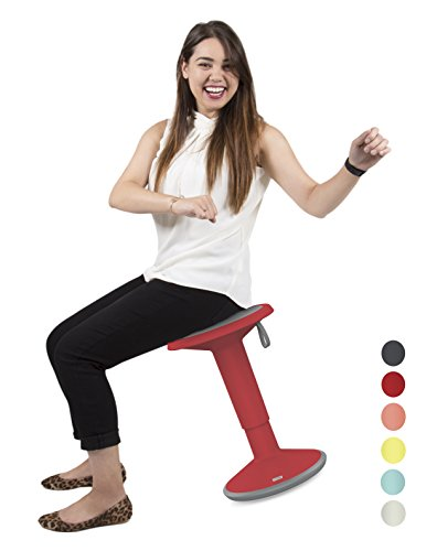 Stand Steady Active Motion Stool for Seating Performance with Active Sitting - Premium Ergonomic Stool / Ergonomic Office Chair for Comfort & Back Pain Relief - Made in Germany (Red) by Stand Steady