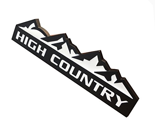 (3D Black and White High Country Rear Emblem Badge Decal Sticker for Chevrolet Chevy Silverado and Jeep Car Styles Accessories)
