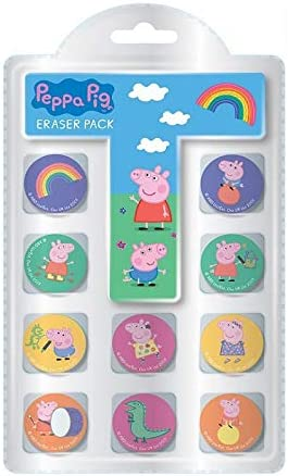 The Home Fusion Company Peppa Pig 10 X Surtido Gomas de Borrar ...
