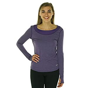 Asics Women's Fit-Sana Long Sleeve T-Shirt, Berry, Medium