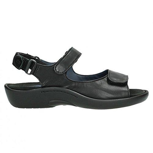 Sandals Womens Black Salvia 1300 Black Wolky ZUItw