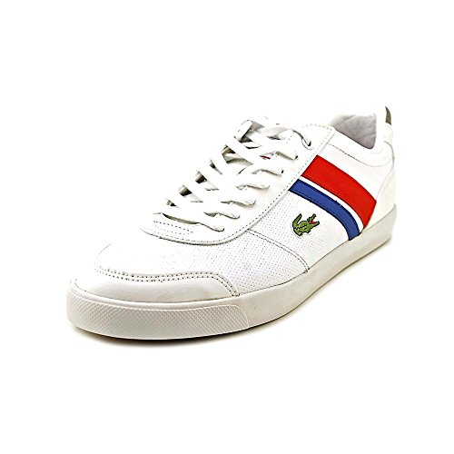 Lacoste Mens Comba Pri Sneakers I Vit / Röd 7 M Oss