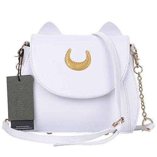 Women's Cross Cute White Handle Bag QZUnique Summer Cat Fashion Shoulder Body Top Rxn66d4A